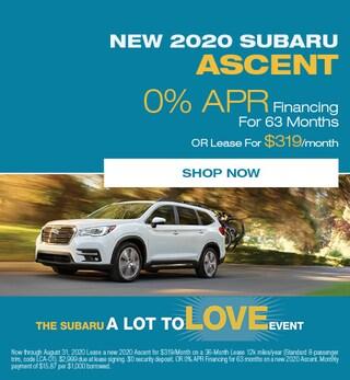 August - 2020 Subaru Ascent