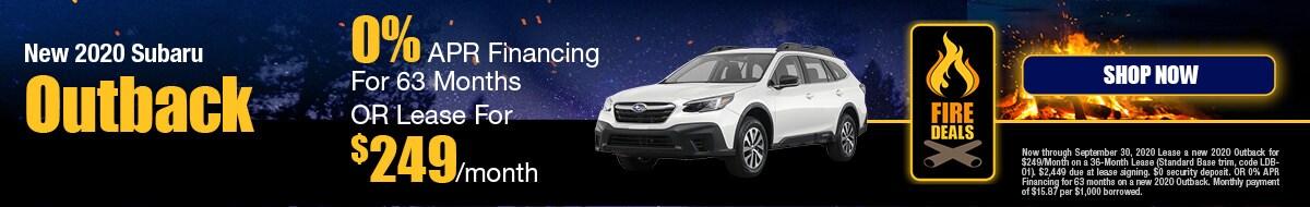 2020 Subaru Outback September Special