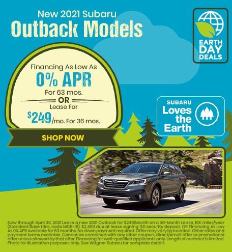 New 2021 Subaru Outback Models - April Special