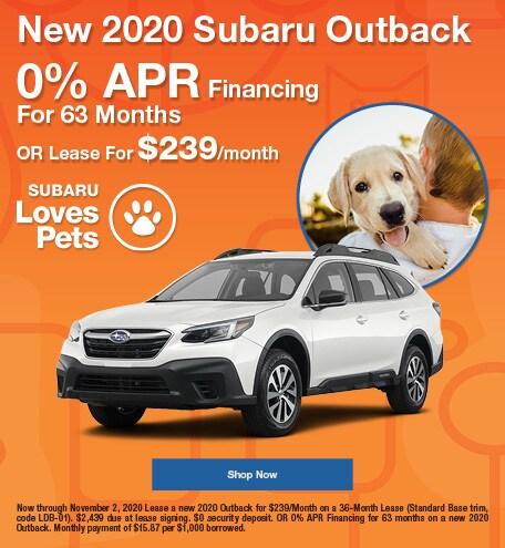 2020 Subaru Outback October Special