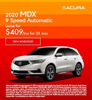 2020 MDX 9 Speed Automatic