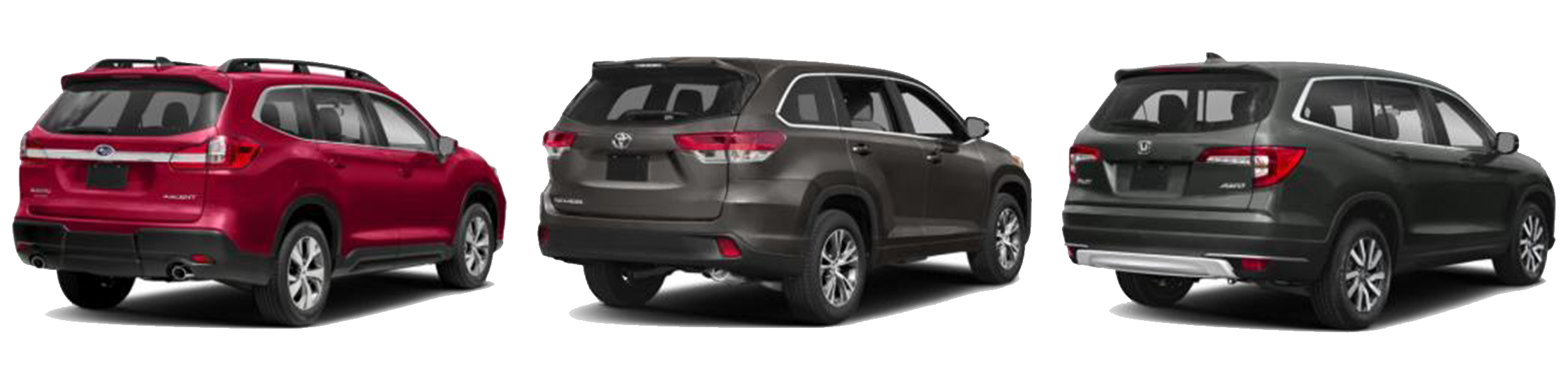 Honda Pilot Vs Subaru Outback >> Subaru Ascent Vs Toyota Highlander And Honda Pilot