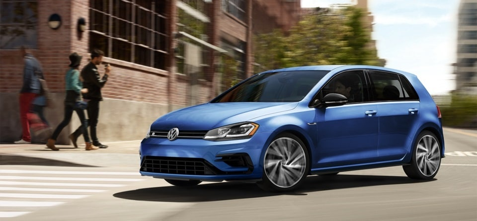 New VW Golf R Driving in New Orleans