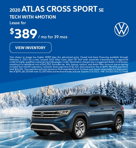 2020 Atlas Cross Sport SE Tech with 4MOTION