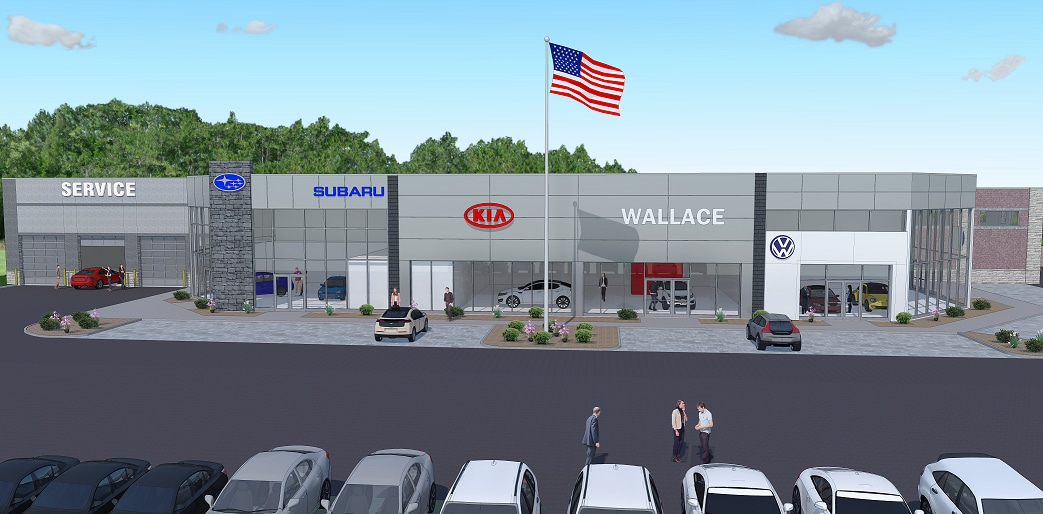 Wallace Dealership Construction Render