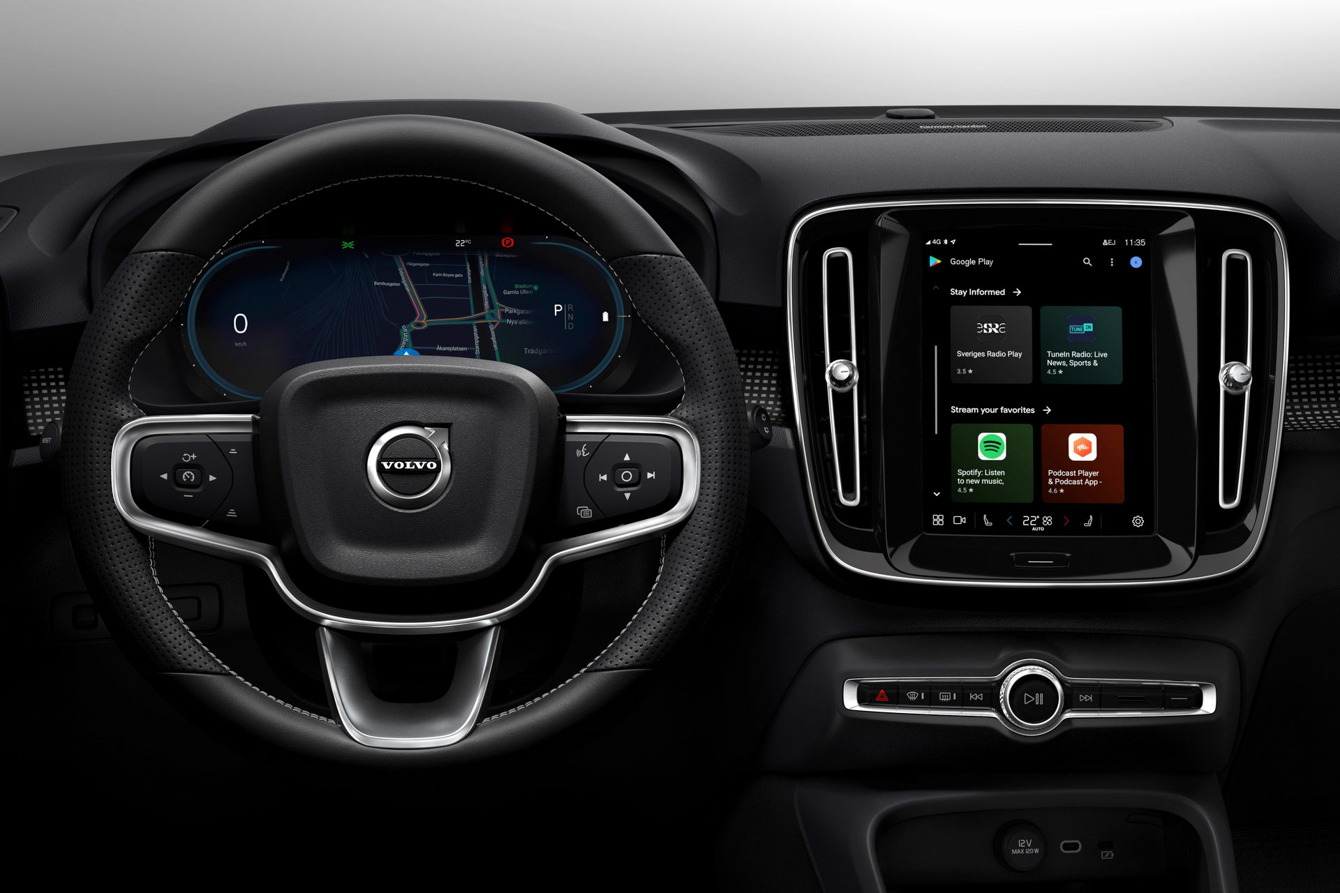 Infotainment System inside the 2022 Volvo XC60