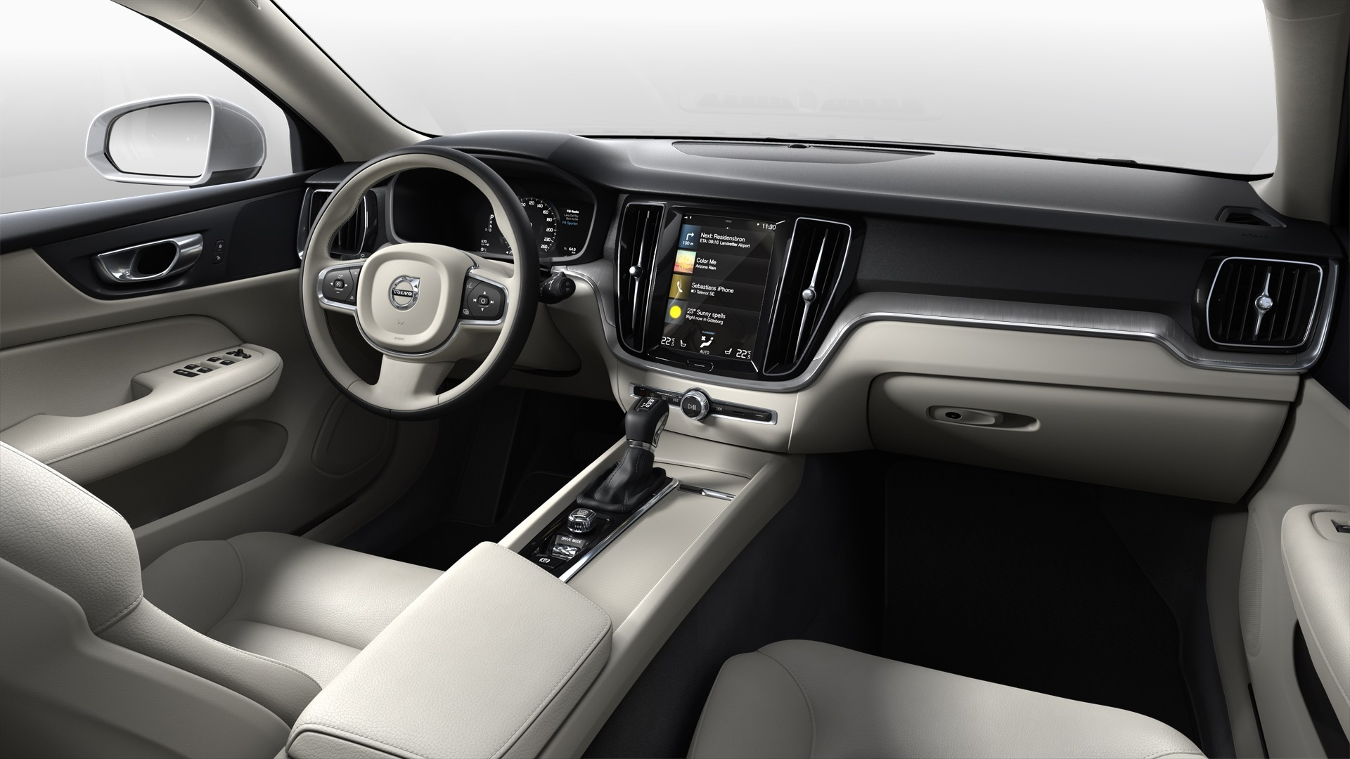Driver view of interior on the 2021 Volvo S60.