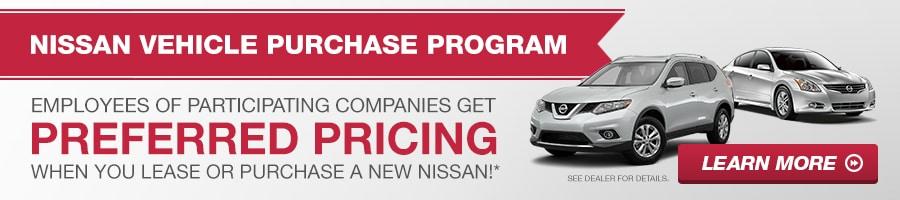 Nissan Vehicle Purchase Program   Nissan Employee Pricing