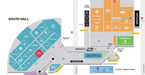 2018 Los Angeles Auto Show floorplan