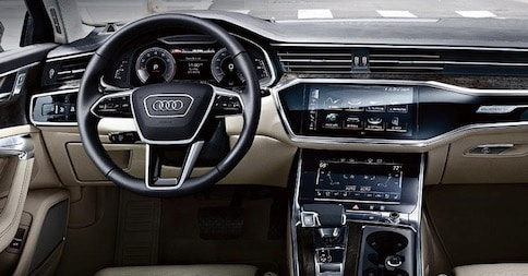 Cabin of the 2019 Audi A6