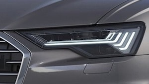 LED lighting on the 2019 Audi A6