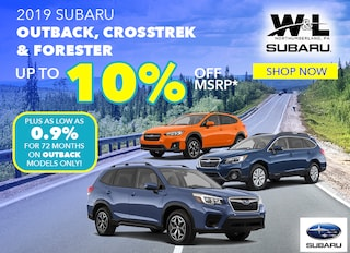 Up to 10% Off MSRP On ALL In-Stock Outback, Forester & Crosstrek Models*