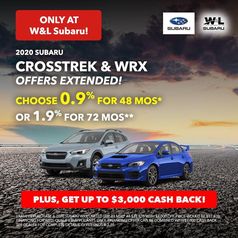 Crosstrek & WRX July Offer