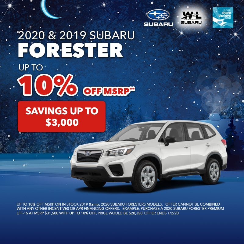 10% Off Forester
