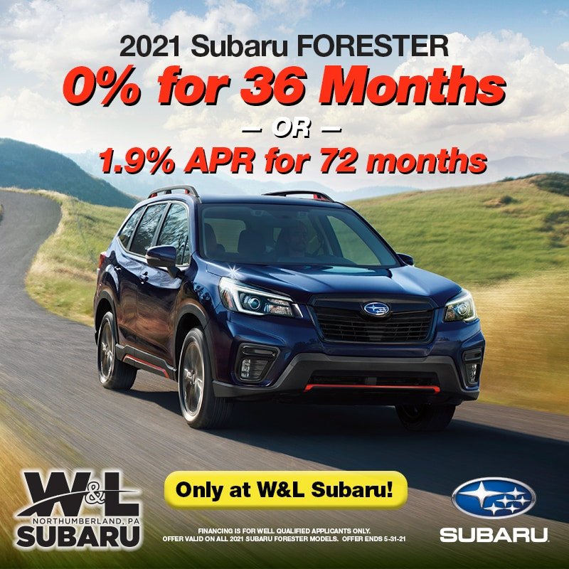 2021 Forester - 0% for 36 mos.