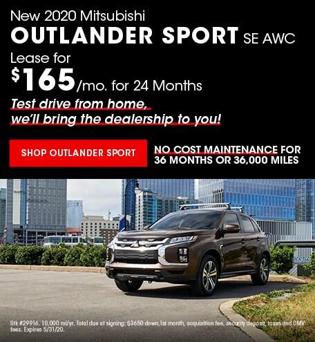 New 2020 Mitsubishi Outlander Sport | Lease