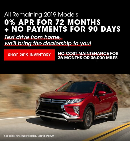 New 2019 Mitsubishi Models | 0% APR for 72 Months + No payments for 90 Days