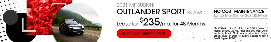New 2021 Mitsubishi Outlander Sport | Lease