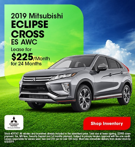 2019 Mitsubishi Eclipse Cross ES AWC - Lease