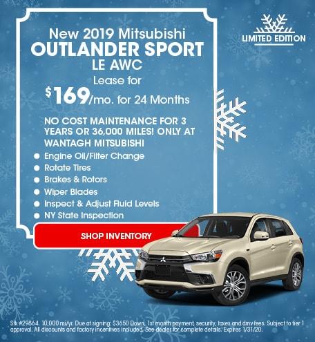 New 2019 Mitsubishi Outlander Sport LE AWC | Lease