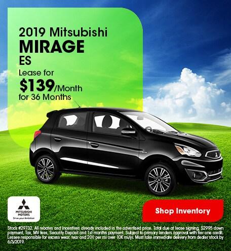 2019 Mitsubishi Mirage ES - Lease