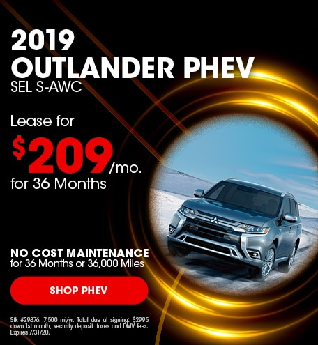 New 2019 Mitsubishi Outlander PHEV | Lease