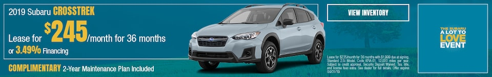 March - 2019 Subaru Crosstrek