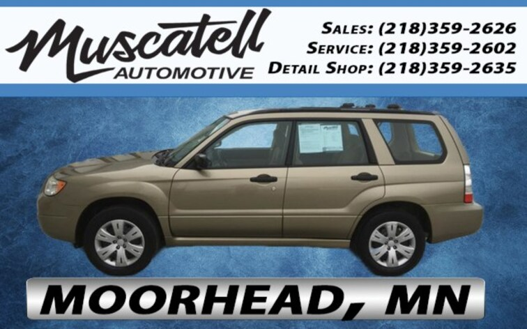 Used 2008 Subaru Forester 2.5X SUV for sale in Moorhead, MN at Muscatell Subaru