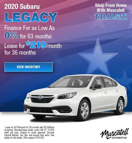 New 2020 Subaru Legacy