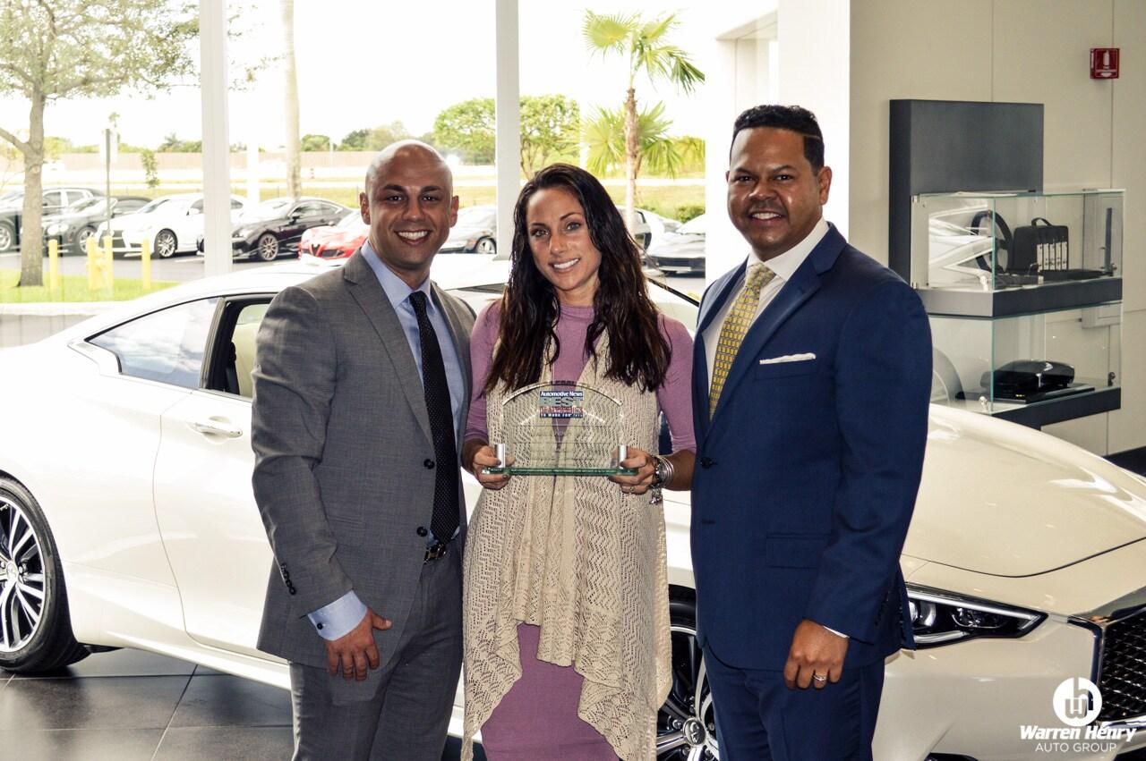 Warren Henry Jaguar Also Received The 2016 Best Dealership To Work For  Award.