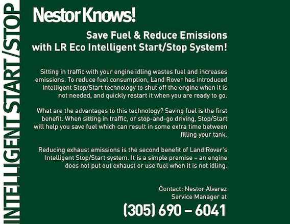 LR Eco Intelligent Start/Stop System | Land Rover North Dade