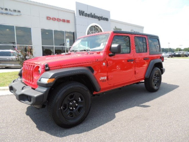 NEW 2018 Jeep Wrangler UNLIMITED SPORT 4X4 Sport Utility for sale in Washington, NC