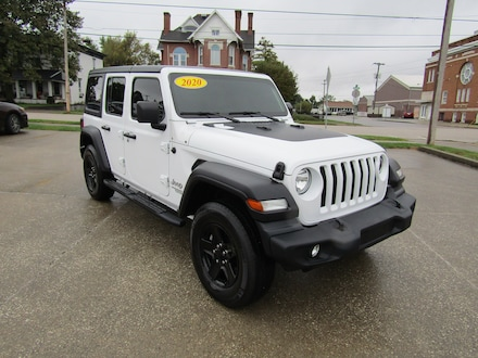 Used 2020 Jeep Wrangler Unlimited Sport SUV for sale in Washington, IN