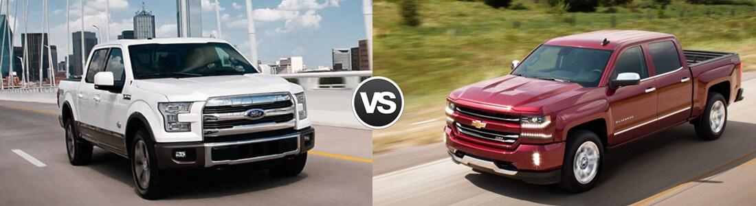 2017 Ford F-150 vs 2017 Chevrolet Silverado 1500