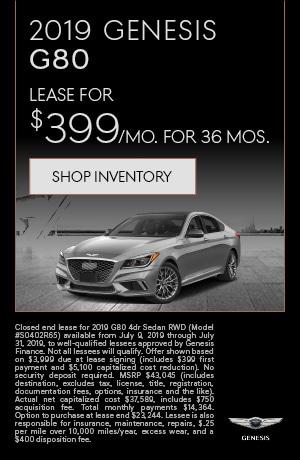 2019 Genesis G80 Lease Offer