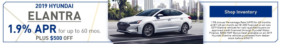 2019 Hyundai Elantra May Offers