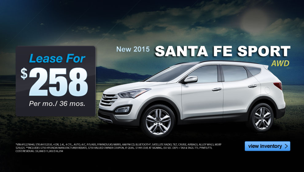 hyundai santa fe lease finance discount specials for. Black Bedroom Furniture Sets. Home Design Ideas