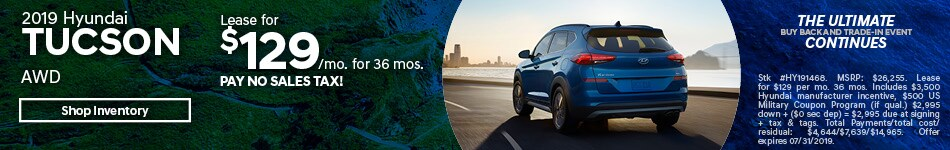 2019 Tucson July Lease Offer