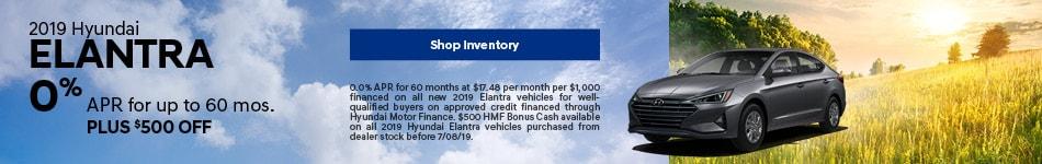 2019 Elantra June Offer