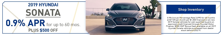 2019 Hyundai Sonata May Offers