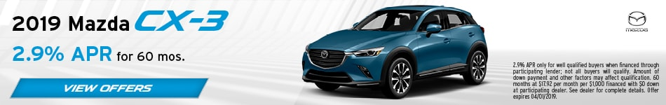 2019 CX-3 March Offers