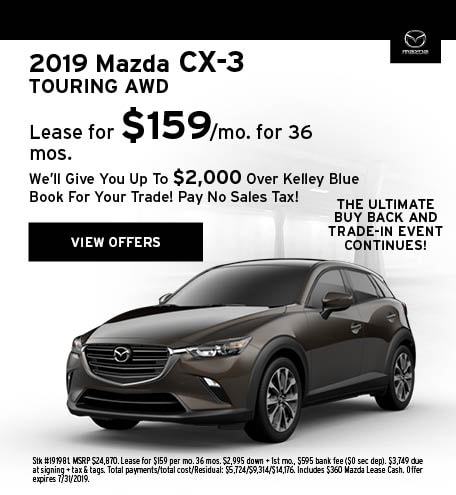 2019 CX-3 July Offer