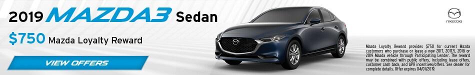 2019 Mazda3 March Offer