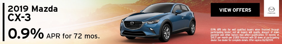 2019 CX-3 June Offer
