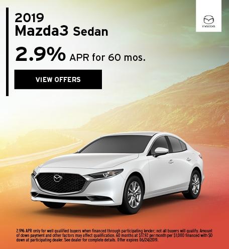 2019 Mazda3 June Offer