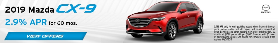 2019 Mazda CX-9 March Offers