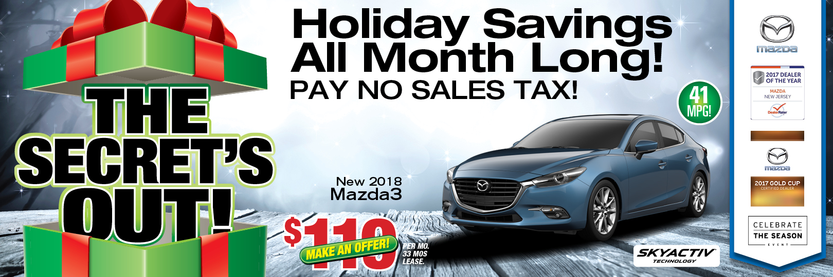 Mazda3 Lease, Finance & Discount Specials for New Jersey