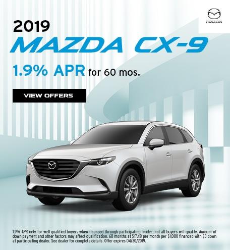 2019 Mazda CX-9 April Offer