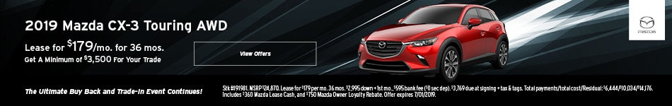 2019 CX-3 June Lease Offer