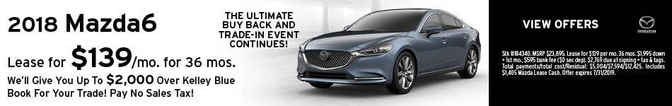 2018 Mazda6 July Offer